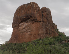 Rock Climbing Photo: Cat's unclimbed north? face
