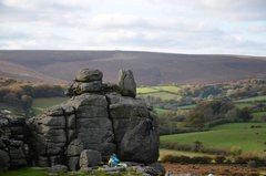 Rock Climbing Photo: soloing suspension flake 5.7