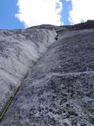 Rock Climbing Photo: Stellar crack on pitch 2.