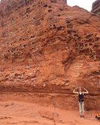 Rock Climbing Photo: Climbing at the Chuckwalla Wall in St. George.