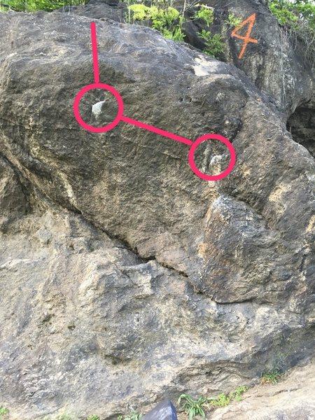 Rock Climbing Photo: Thin Fin route pic
