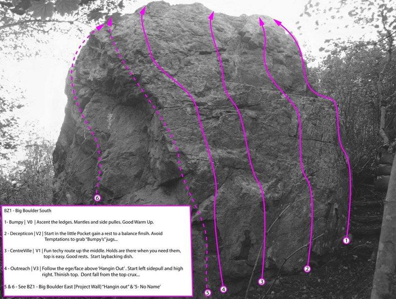 Rock Climbing Photo: BZ1 - Big Boulder South