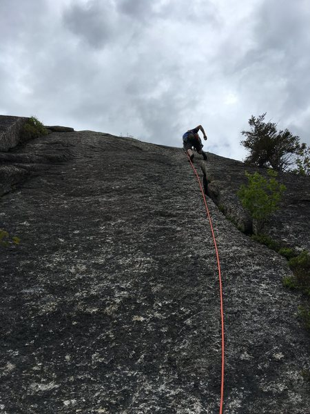 Tom on the second pitch crack