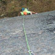 Rock Climbing Photo: P1 crux mantle