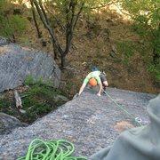 Rock Climbing Photo: on P1 arete