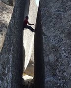 Rock Climbing Photo: Me at second bolt.