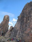 Rock Climbing Photo: Enjoying warm rock and a bluebird sky in the Alaba...