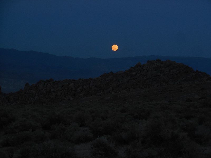 Full moon over the Alabama Hills.