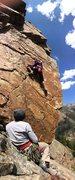 Rock Climbing Photo: Crux is down low