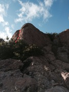 Rock Climbing Photo: Count Crackula is the red line behind the bush and...