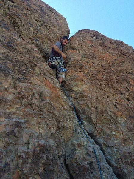 Rock Climbing Photo: Joe getting his trad on.