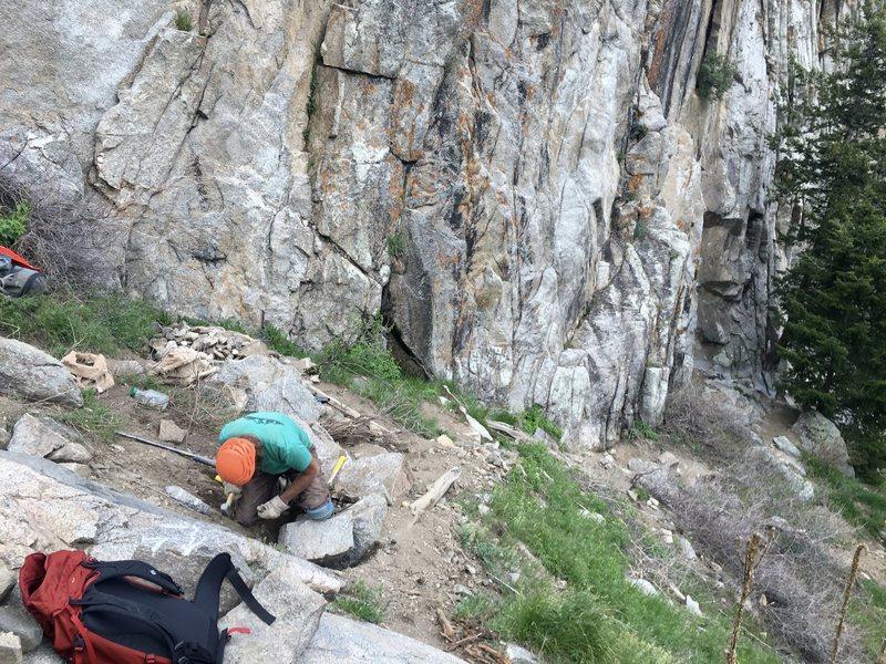 Rock Climbing Photo: Plotinus Wall work