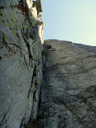 Rock Climbing Photo: Justin cruising up the Hospital Corner in Lover Le...