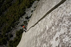 Rock Climbing Photo: Cesar from Colombia cruising up the last splitter ...
