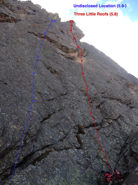 Rock Climbing Photo: The route from below.