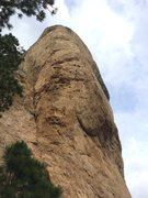 Rock Climbing Photo: Follow the large prow up and right, hard moves are...