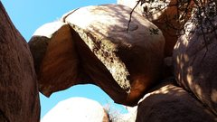 """Rock Climbing Photo: The """"Pac Man"""" rock.  You are close.  The..."""