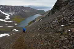 Rock Climbing Photo: The descent from Paso Virginia, Los Dientes de Nav...