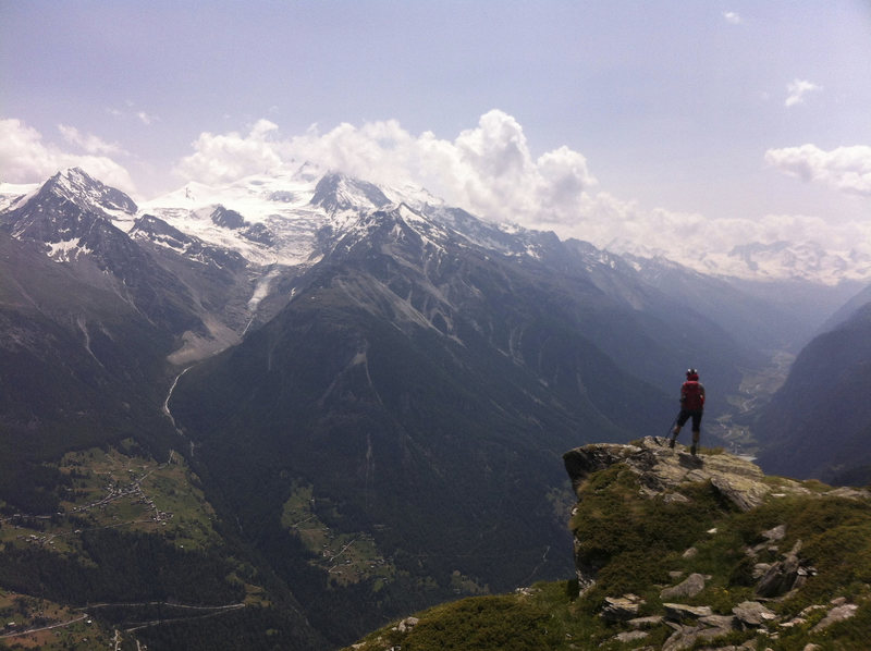 Twara Point, Day 12 of the Haute Route, Switzerland, July 2013.
