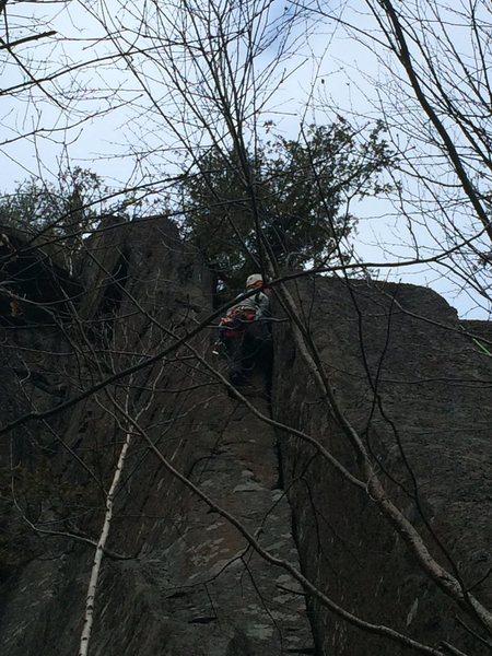 Rock Climbing Photo: Nearing top