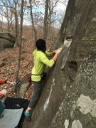 Rock Climbing Photo: Johnny Quest at Asheboro. Photo credit Brian Payst