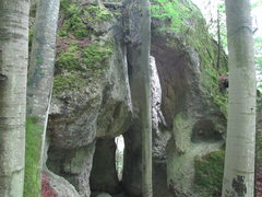 """Rock Climbing Photo: The back side after going through the """"cathed..."""
