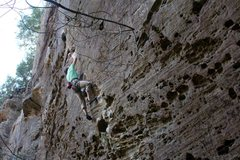 Rock Climbing Photo: About to stick the crux on my send of Hippocrite, ...