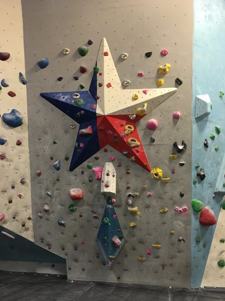Summit Climbing Gym in Carrollton, TX - Lots of fun problems and some short routes (no lead). Very cool circuit bouldering area.
