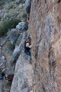 Rock Climbing Photo: Luke on the route