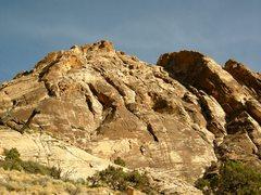 Rock Climbing Photo: Windy Peak. Crocodile Rock shown.