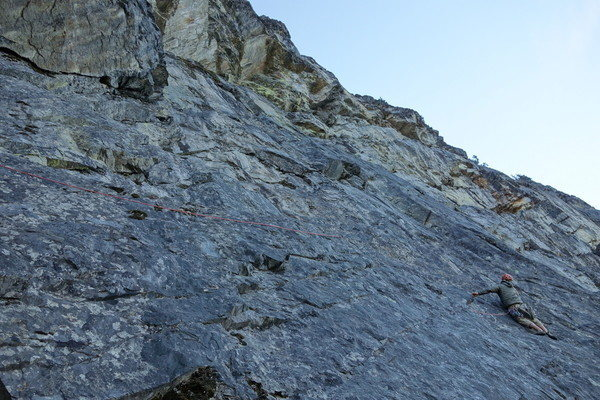 "Me on the ""Improbable Traverse"" pitch"