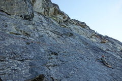 """Rock Climbing Photo: Me on the """"Improbable Traverse"""" pitch"""