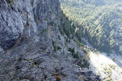 Rock Climbing Photo: The final ramps leading off the wall and into the ...