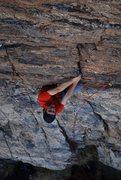 Rock Climbing Photo: Kemper climbing on Moral Ambiguity.
