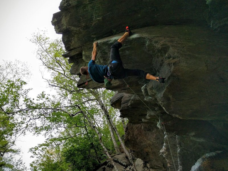 Rock Climbing Photo: Working for the third clip