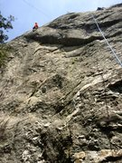 Rock Climbing Photo: A good view of lower Monkey with master Dave makin...