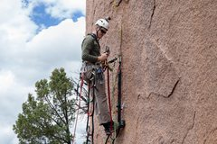 Rock Climbing Photo: Nathan getting established on the start.