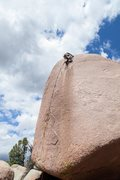 Rock Climbing Photo: Nathan Young at the top looking for a place to anc...