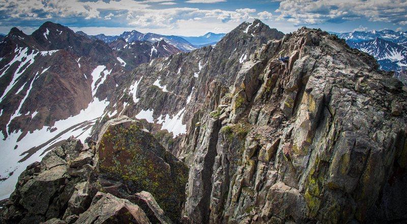 climbing in the Gore Range