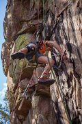 Rock Climbing Photo: Enrico Saladino helping clean Clays project.