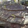 West Slab, V0-V1, on Ramp Rock.