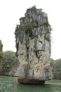 Rock Climbing Photo: Hon Dua, taken from Asia Outdoor tender boat