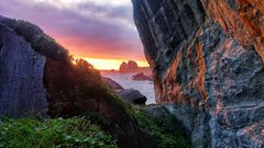 Rock Climbing Photo: Scenic view at sunset from the top of the Abyss Bo...