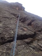 Rock Climbing Photo: A close up view of the route.