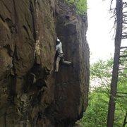Rock Climbing Photo: Stem and reeeeeach.