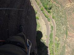 Rock Climbing Photo: Cruisin up Ashtar Command P2.