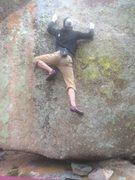 Rock Climbing Photo: Shane mid-route.