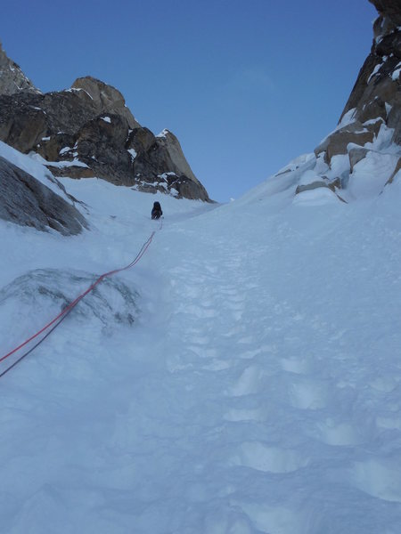 Access Couloir 5/13/16 - Easy to simul to the base of the Spiral.