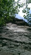 Rock Climbing Photo: Looking up on Stinky Pinky, the white wall (most d...