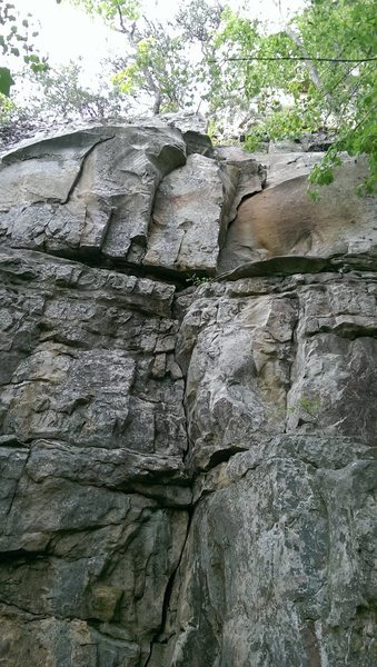 Rock Climbing Photo: You can see in the top right the very distinctive ...